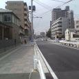 新道拡幅工事中